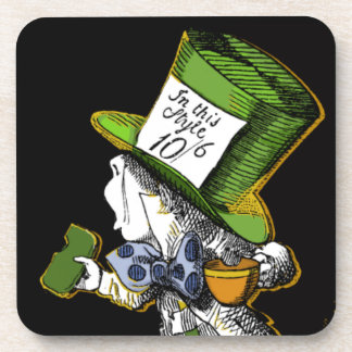 Mad Hatter Cork Coaster Set