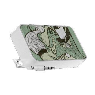 Mad hatter doodle notebook speakers