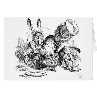 Mad Hatter, Dormouse and March Hare Card