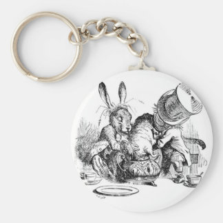 Mad Hatter, Dormouse and March Hare Key Chains