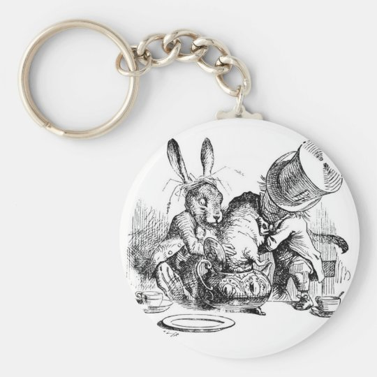 Mad Hatter, Dormouse and March Hare Keychain