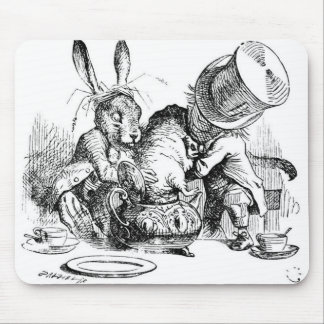Mad Hatter, Dormouse and March Hare Mouse Pad
