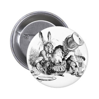Mad Hatter, Dormouse and March Hare Pinback Button