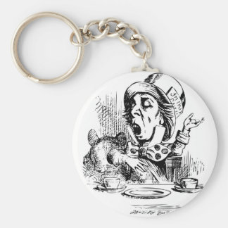 Mad Hatter engaging in rhetoric Keychain