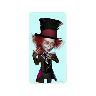Mad Hatter Fun Label Stickers