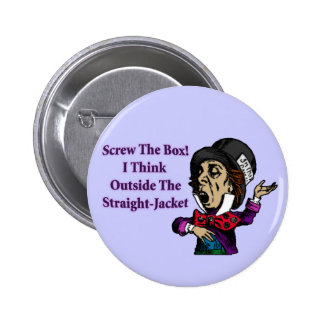 Mad Hatter Funny Motivational Quote Button