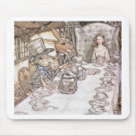Mad Hatter, Hare and Alice at the Tea Table Mousepads