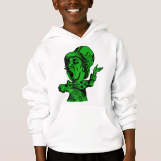 Mad Hatter Inked Green Fill Hoodie