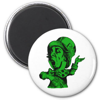 Mad Hatter Inked Green Fill Magnet