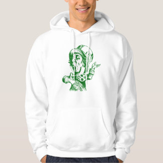 Mad Hatter Inked Green Hooded Pullovers