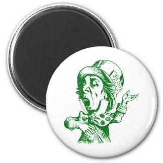 Mad Hatter Inked Green Magnet