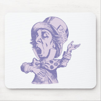 Mad Hatter Inked Lavender Mouse Pad