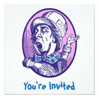 """Mad Hatter Invitation 5.25"""" Square Invitation Card"""