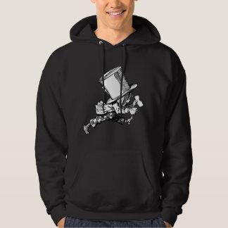 Mad Hatter just as hastily leaves Hooded Sweatshirt