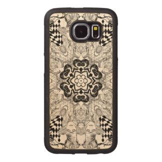 Mad Hatter Kaleidoscope Wood Phone Case