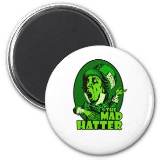 Mad Hatter Logo Green Magnet