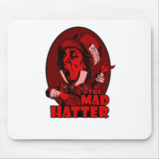 Mad Hatter Logo Red Mouse Pad