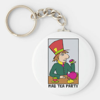 Mad Hatter Mad Tea Party Key Chain