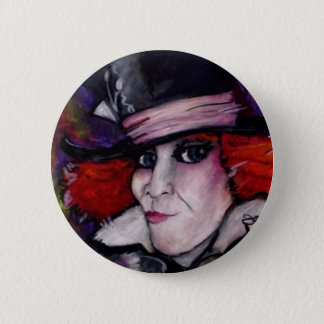 Mad Hatter Pinback Button