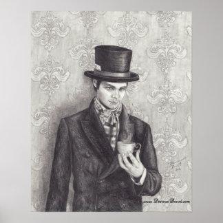 Mad Hatter Poster Mad Hatter Art Wonderland Art