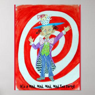 """""""Mad Hatter"""" Poster--Original Artwork Poster"""