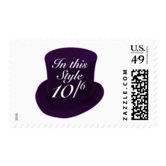 Mad Hatter - Purple Postage Stamp