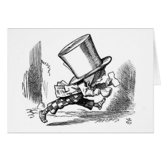 Mad Hatter Running Card