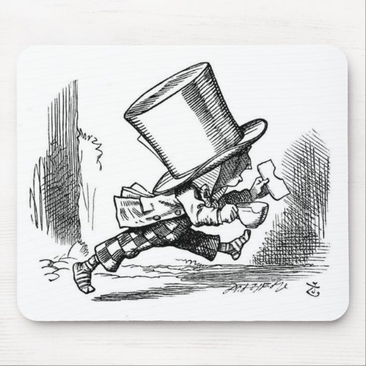 Mad Hatter Running Mousepads
