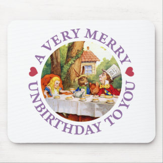 Mad Hatter Says a Very Merry Unbirthday to You! Mouse Pad