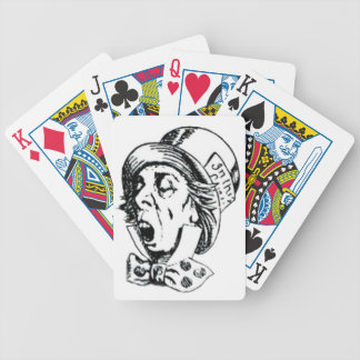 Mad Hatter Speech Bicycle Playing Cards