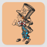 Mad Hatter Square Sticker