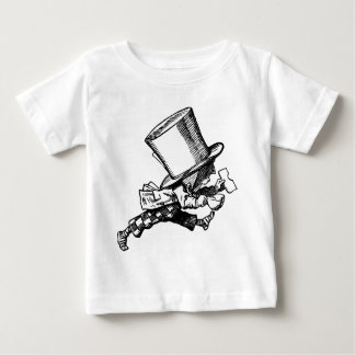 Mad Hatter Striding Right Inked Black Baby T-Shirt