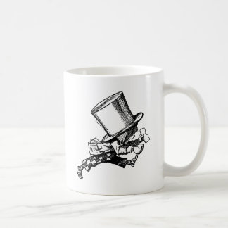 Mad Hatter Striding Right Inked Black Coffee Mug