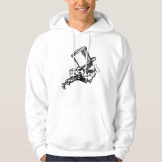 Mad Hatter Striding Right Inked Black Hoodie