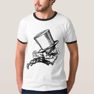Mad Hatter Striding Right Inked Black T-Shirt