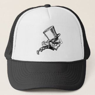 Mad Hatter Striding Right Inked Black Trucker Hat