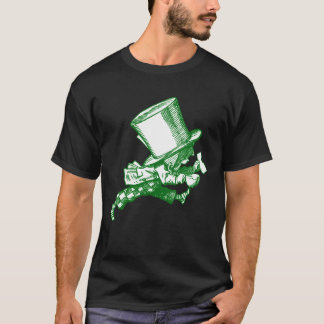 Mad Hatter Striding Right Inked Green T-Shirt