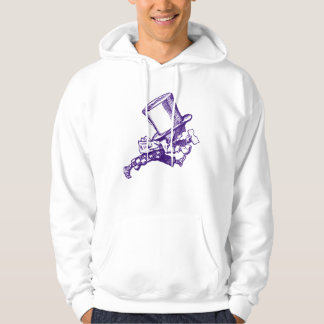 Mad Hatter Striding Right Inked Purple Hoodie