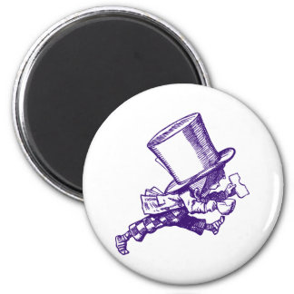 Mad Hatter Striding Right Inked Purple Magnet