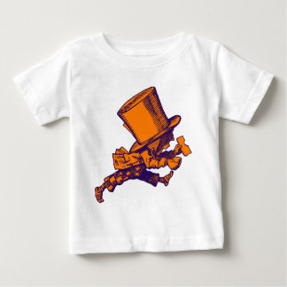 Mad Hatter Striding Right Inked Purple Orange Baby T-Shirt