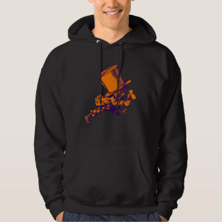Mad Hatter Striding Right Inked Purple Orange Hoodie