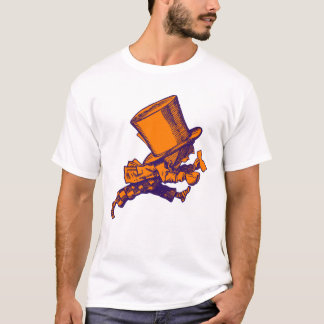 Mad Hatter Striding Right Inked Purple Orange T-Shirt