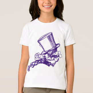 Mad Hatter Striding Right Inked Purple T-Shirt