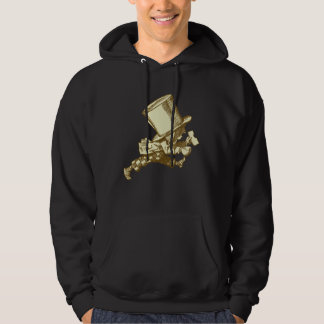 Mad Hatter Striding Right Inked Sepia Hooded Pullovers