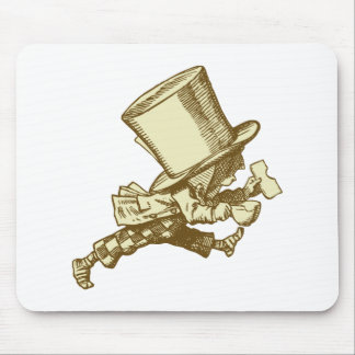 Mad Hatter Striding Right Inked Sepia Mouse Pad