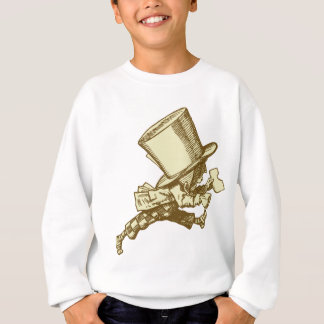 Mad Hatter Striding Right Inked Sepia Sweatshirt