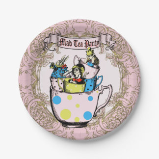 Mad Hatter Tea Party Alice in Wonderland Paper Plate