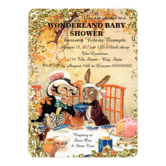 Mad Hatter Tea Party Baby Shower Card