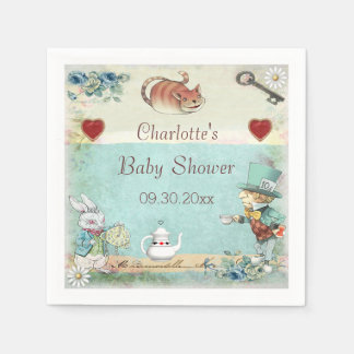 Mad Hatter Tea Party Baby Shower Personalized Napkin