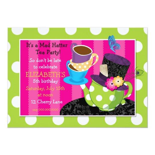 Mad Hatter Tea Party Birthday Invitation | Zazzle.com